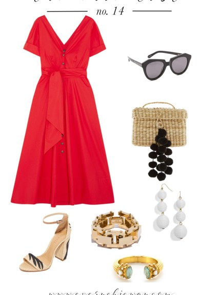 Red Midi Dress From Saloni Zoey: The Chic List No. 14