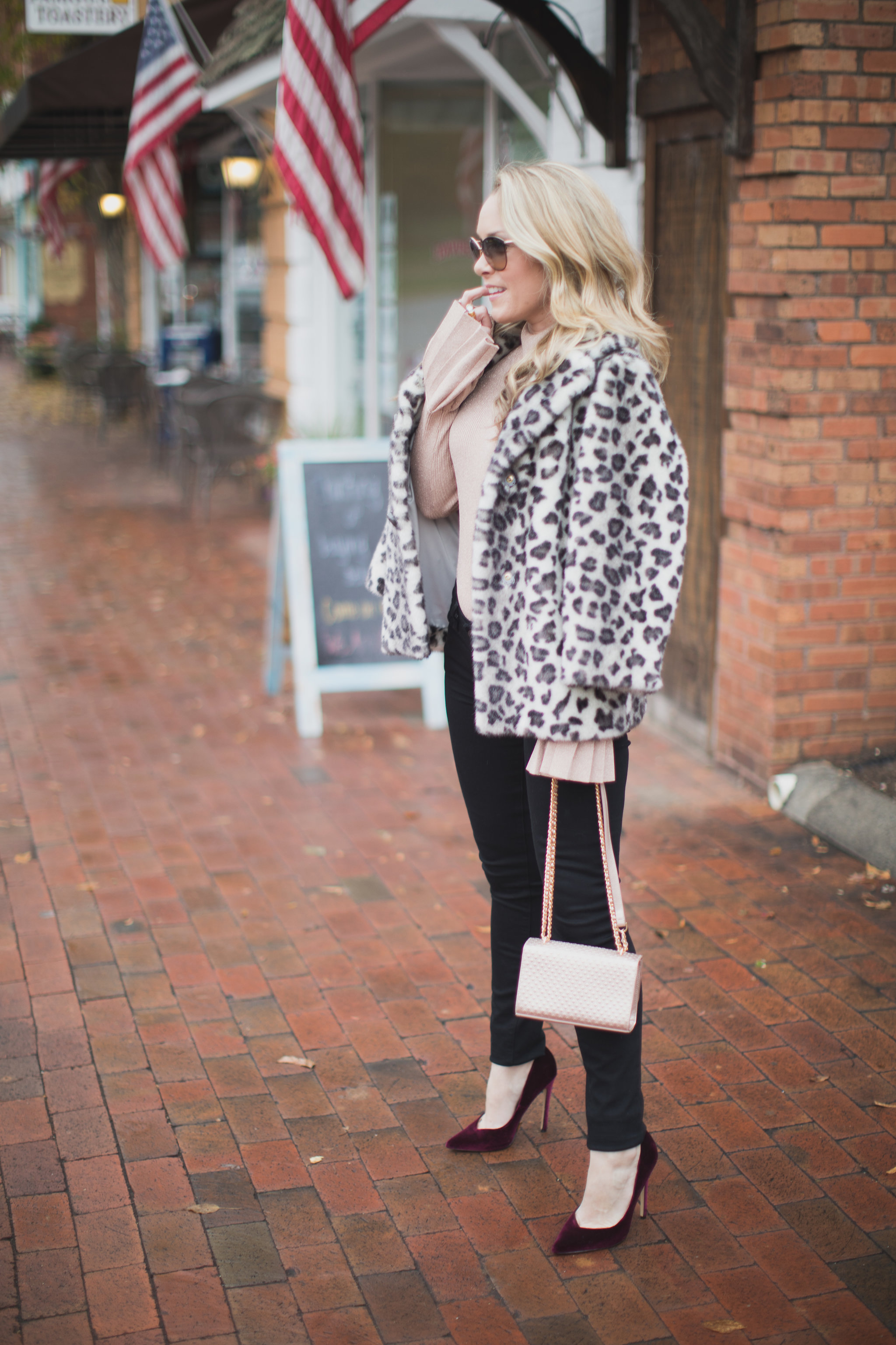 Metallic and leopard. The perfect combo for the holiday season! - Shopping with IFCHIC by North Carolina fashion blogger Every Chic Way