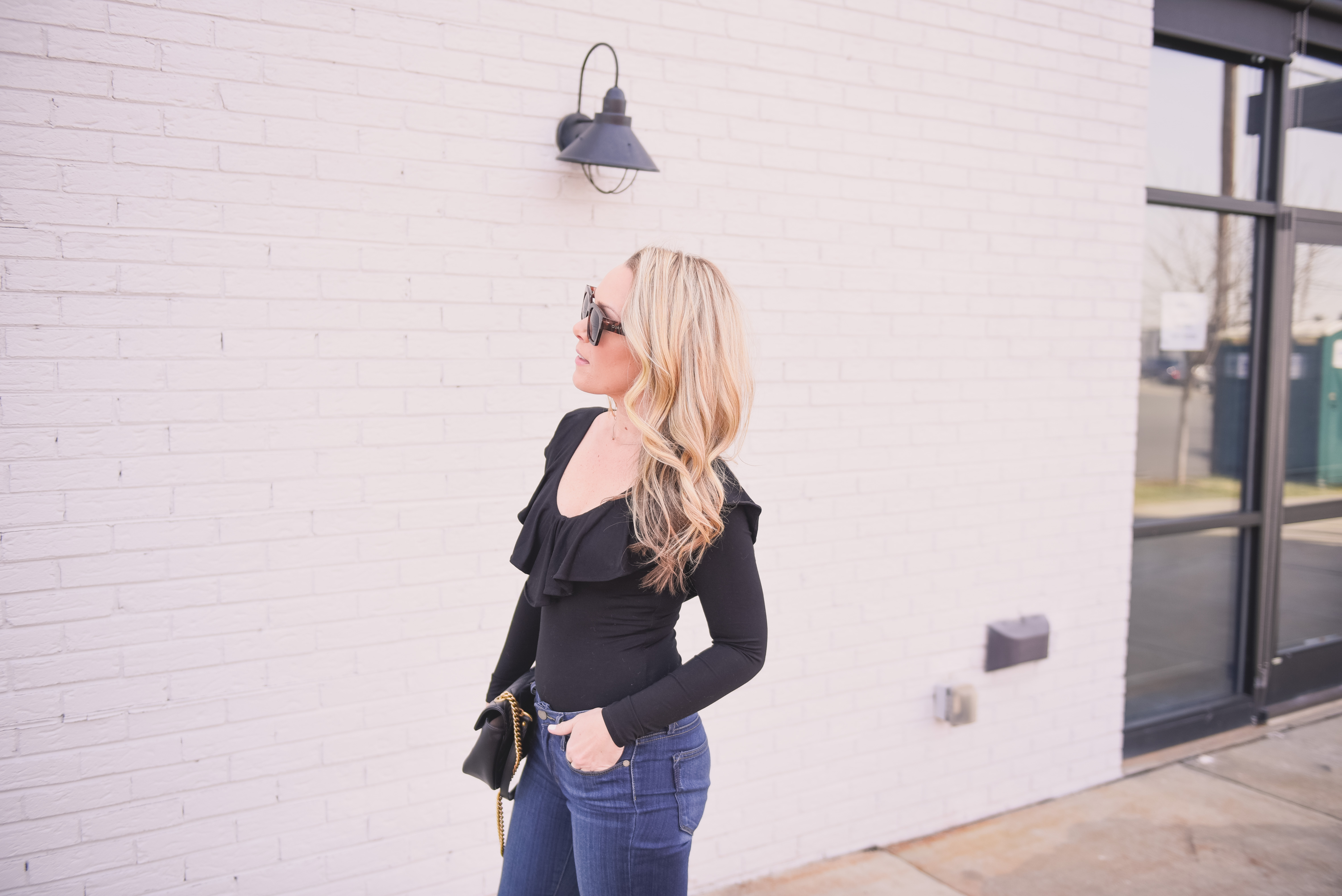 The perfect black ruffle bodysuit is up on Every Chic Way today! Plus I am also sharing what to expect on le blog in 2018!