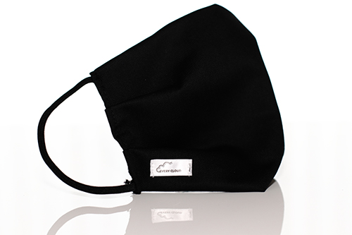 A black Every Cloud Antimicrobial Reusable face mask