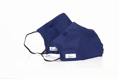 Two blue Every Cloud Antimicrobial Reusable face mask