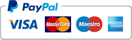 An image of the accepted payment methods via Paypal