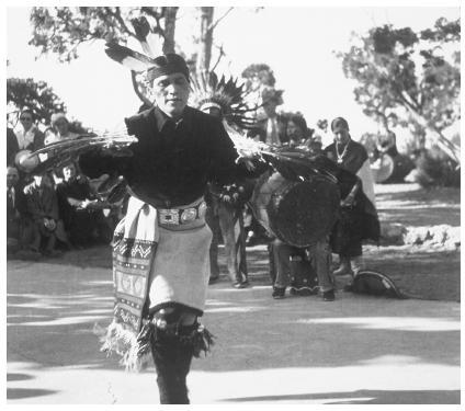 This Hopi dancer  is performing  at El Tovar,  Grand Canyon.