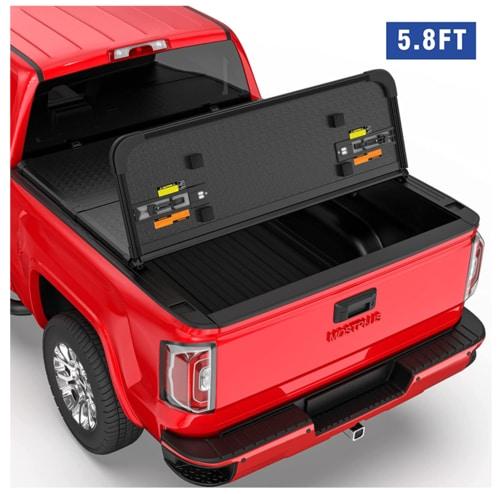 MOSTPLUS Tri-Fold Hard Truck Bed Tonneau Cover