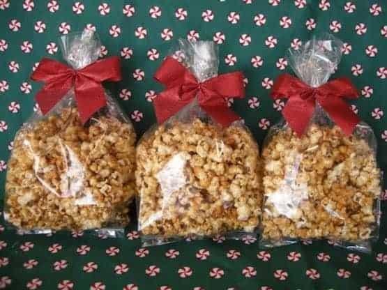 caramel popcorn gift bags