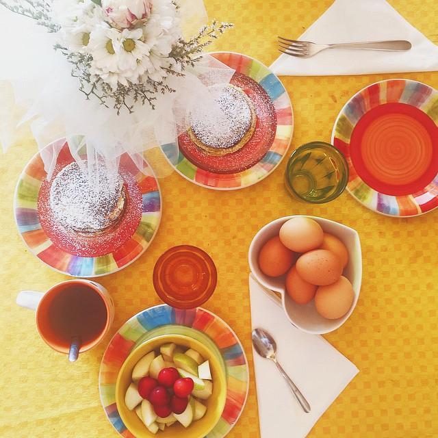 My idea of #breakfast  per i #pancakes ho seguito la ricetta di @thebaggirl e sono venuti veramente buonissimi
