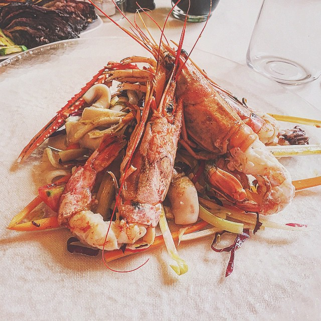 My favorite spring-y dish: shrimps salad  #shrimp #shrimps #salad #saladlover
