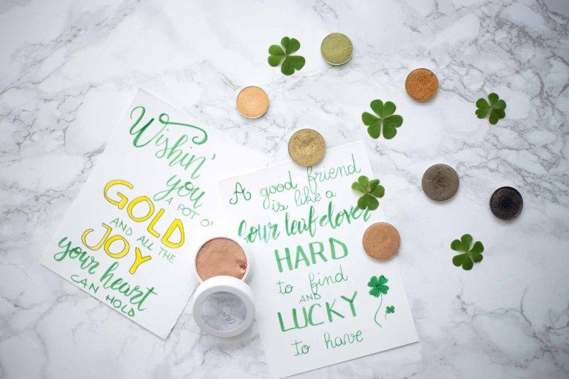 ombretti verdi e oro