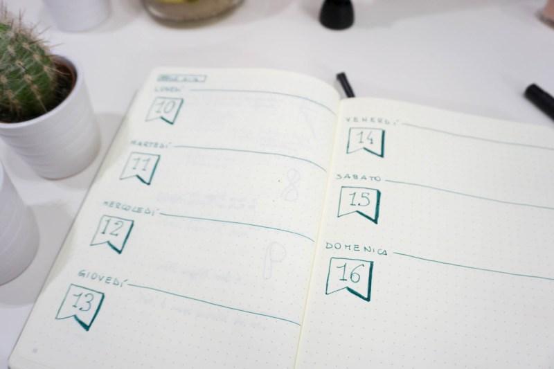 bullet journal aprile set up