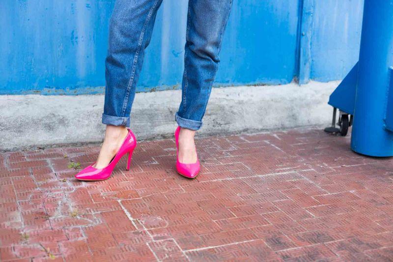 scarpe fucsia