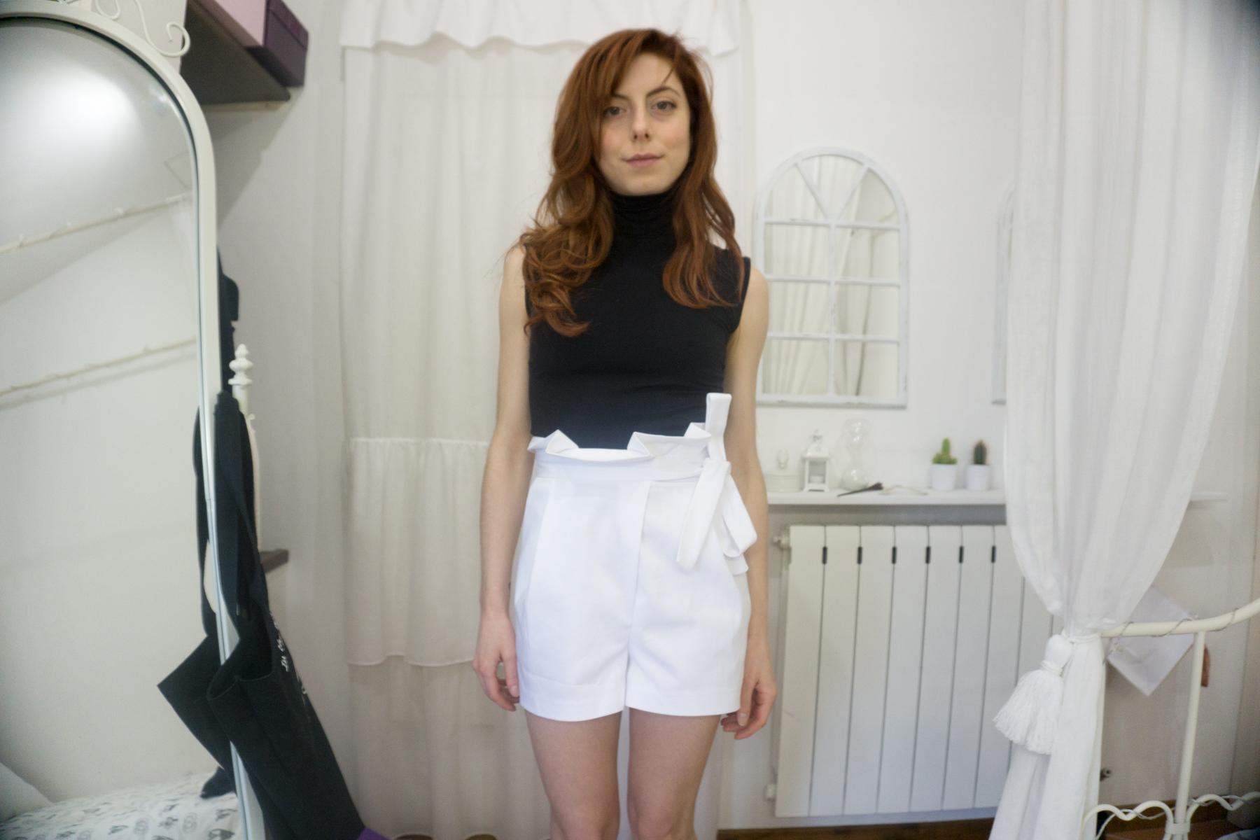 shorts con fiocco zara 2017