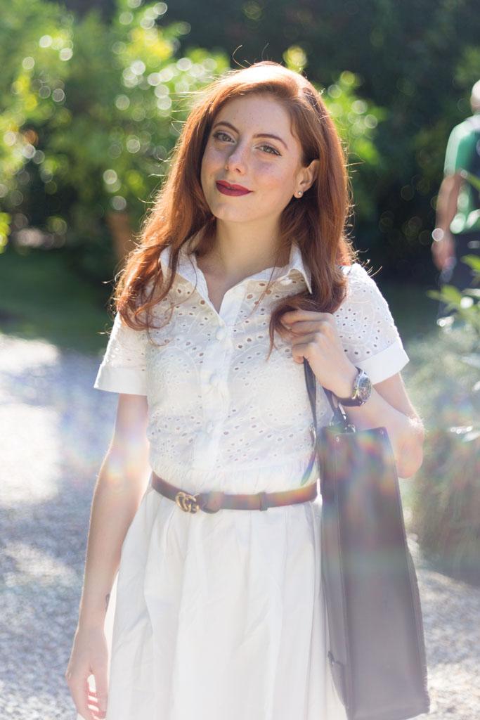 vestito bianco sangallo