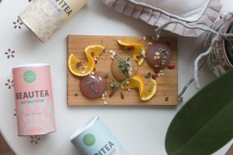 natural mojo happy tea raindrop cake