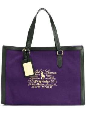 Ultra violet borsa shopper ralph lauren