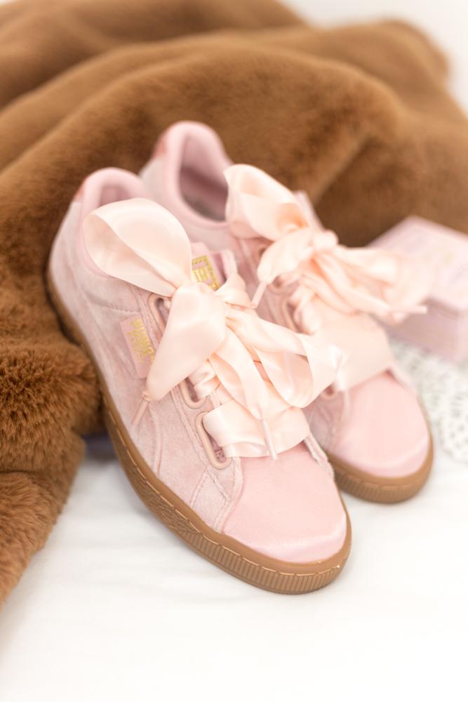 puma basket bow rosa