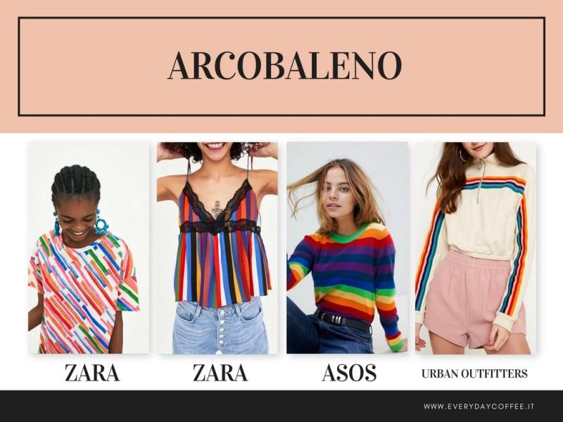 tendenza moda primavera estate 2018 ARCOBALENO