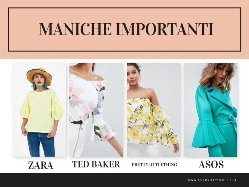 tendenza moda primavera estate 2018 maniche protagoniste