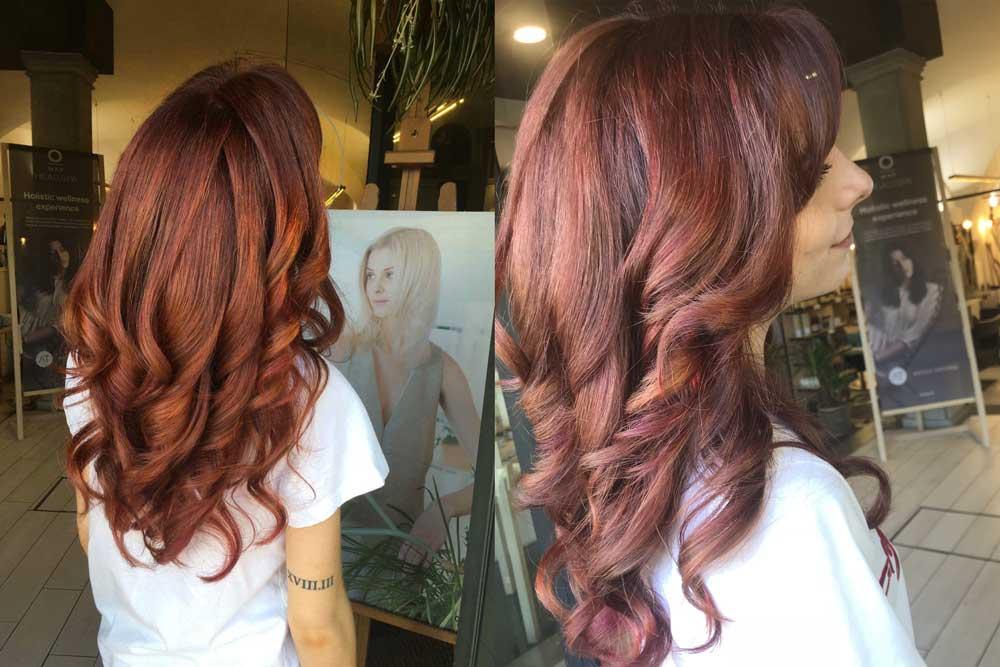 Sfumature capelli rossi dopo