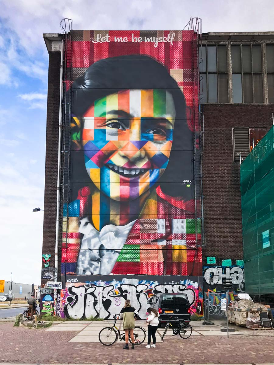 AMSTERDAM murales anna Frank NDSM WARF
