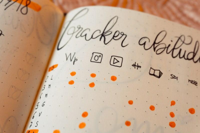 ESSERE PRODUTTIVI tracker bullet journal