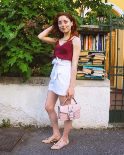 summer lookbook 2018 outfit con ballerine con borchie