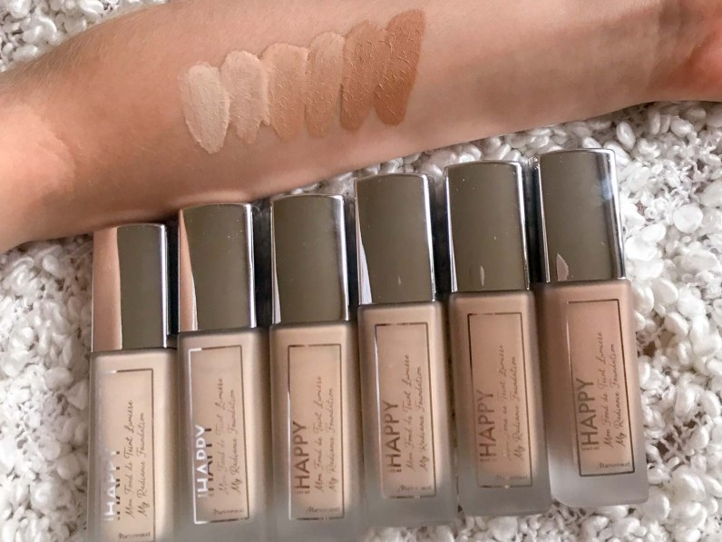 my radiance foundation swatches e recensione