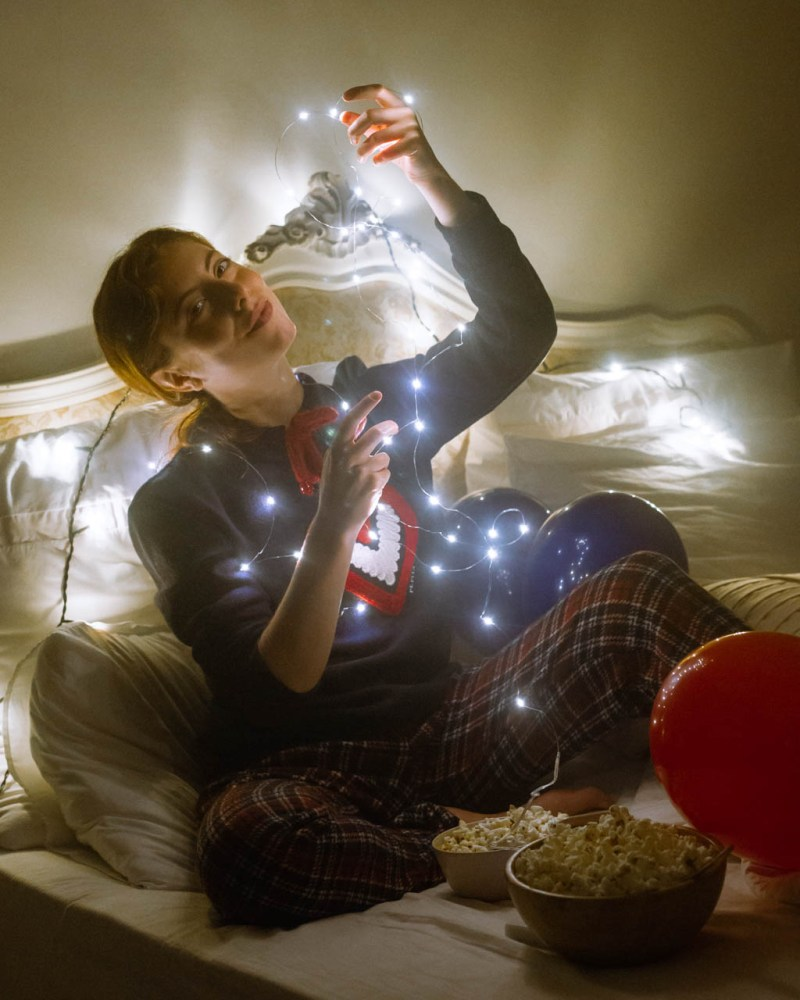 netflix and chill col pigiama di Pepita