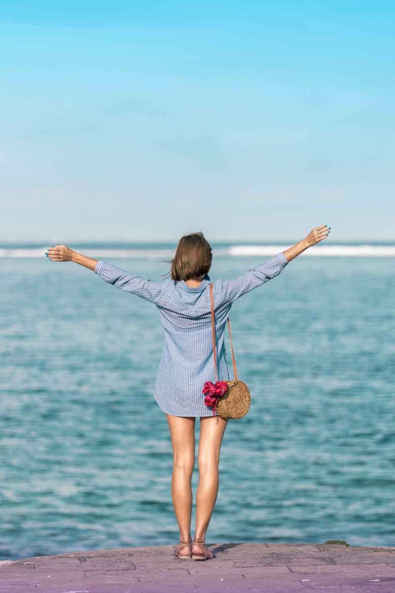 camicia lunga per la spiaggia