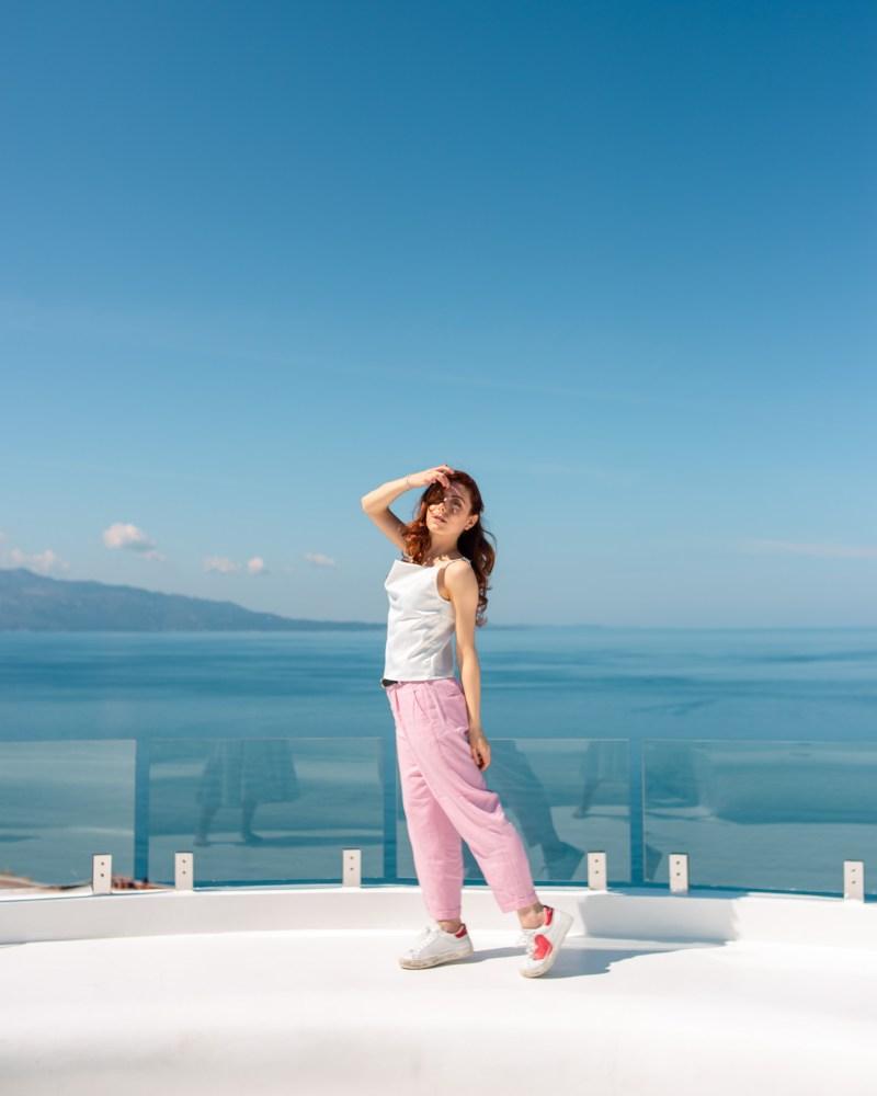 vista panoramica terrazza al bougainville bay saranda