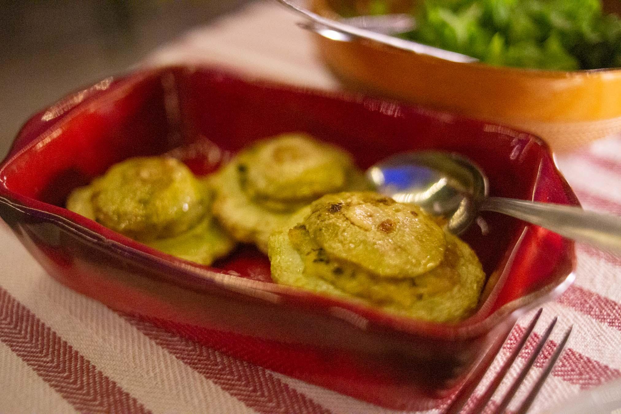 zucchine tonde ripiene al forno
