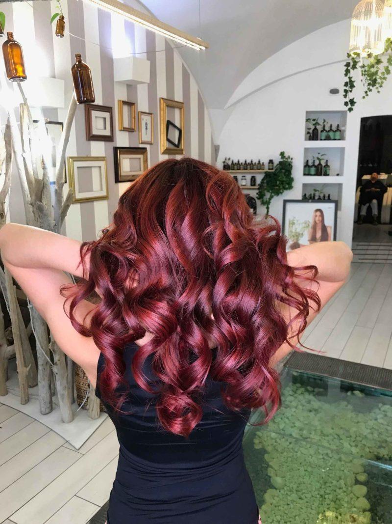 capelli rossi appena colorati con agricolor