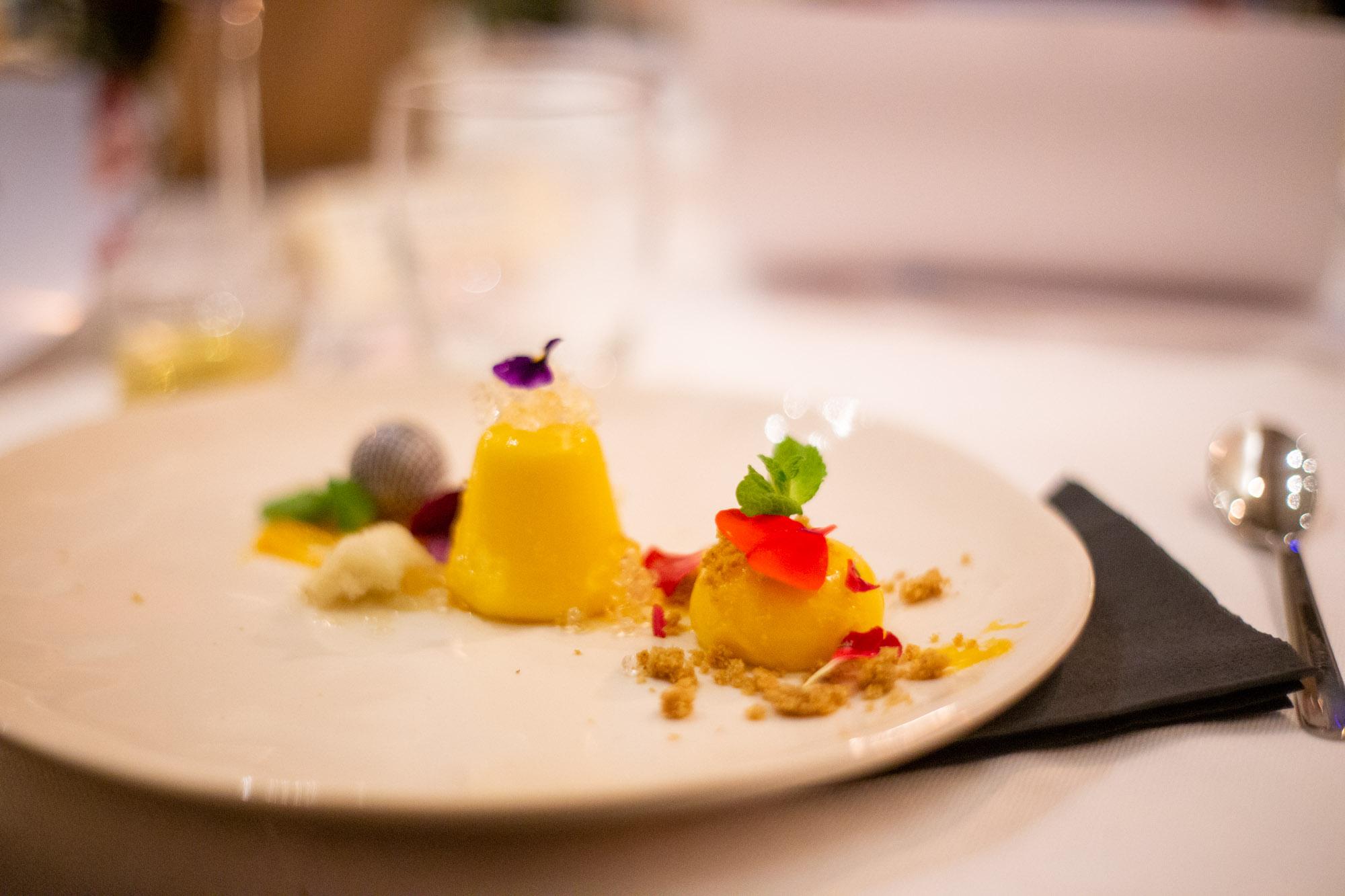 dessert giardino di inverno con finocchio e mandarino di cuculia cucina contemporanea a firenze