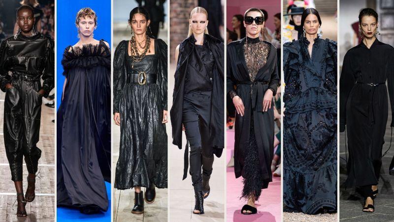 nero gotico colori moda 2020