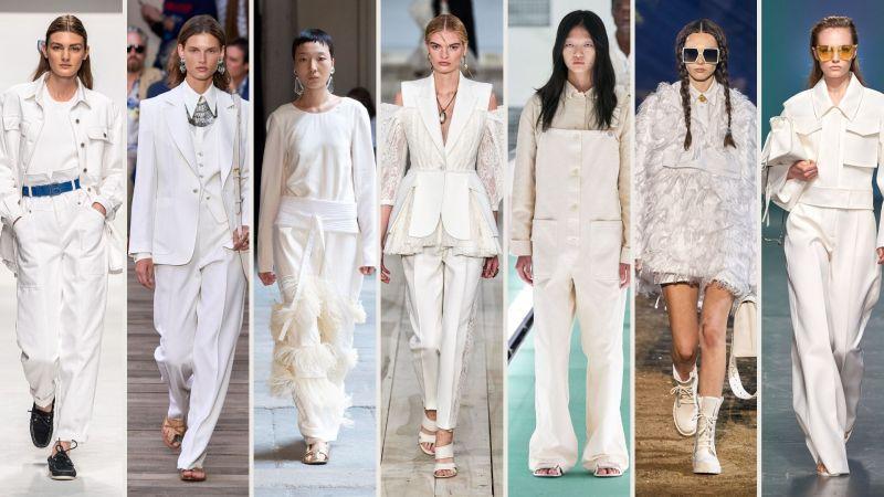 total white di tendenza per la primavera 2020
