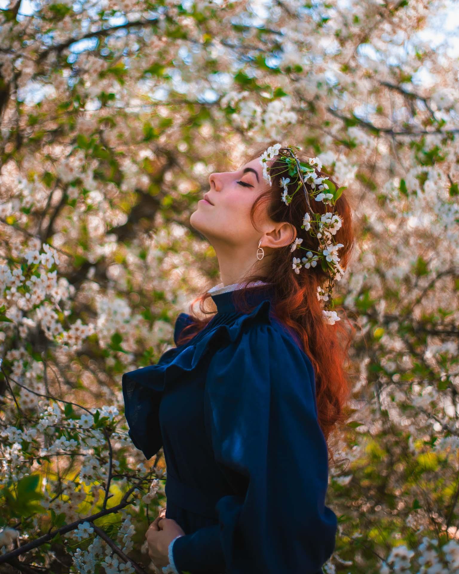 ritratti floreali foto primaverili