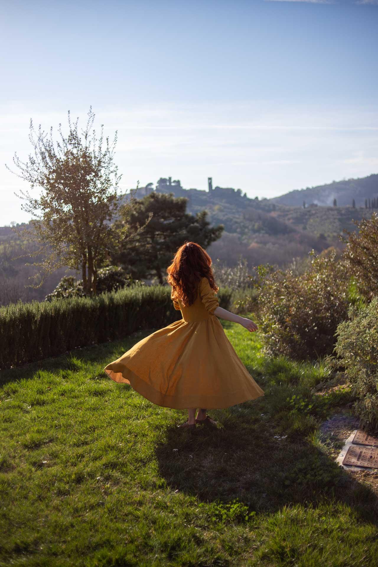 Agriturismo bio in Toscana, vista su buggiano