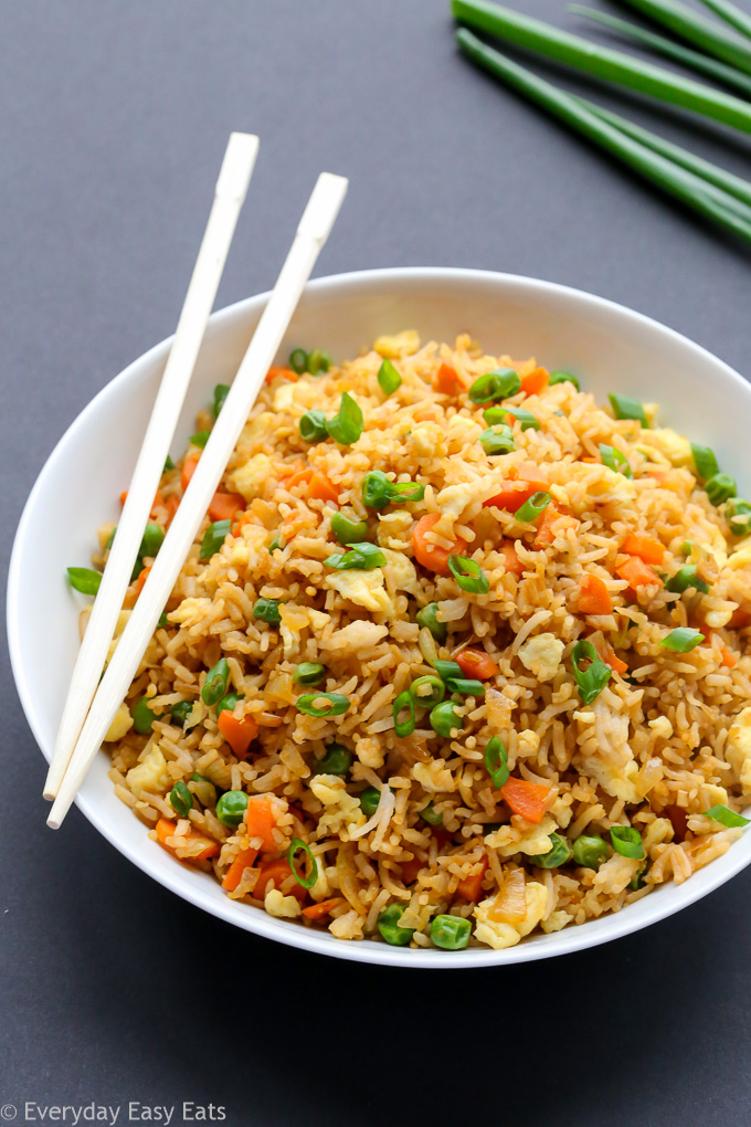 Easy, 15-Minute Chinese Fried Rice | Recipe at EverydayEasyEats.com