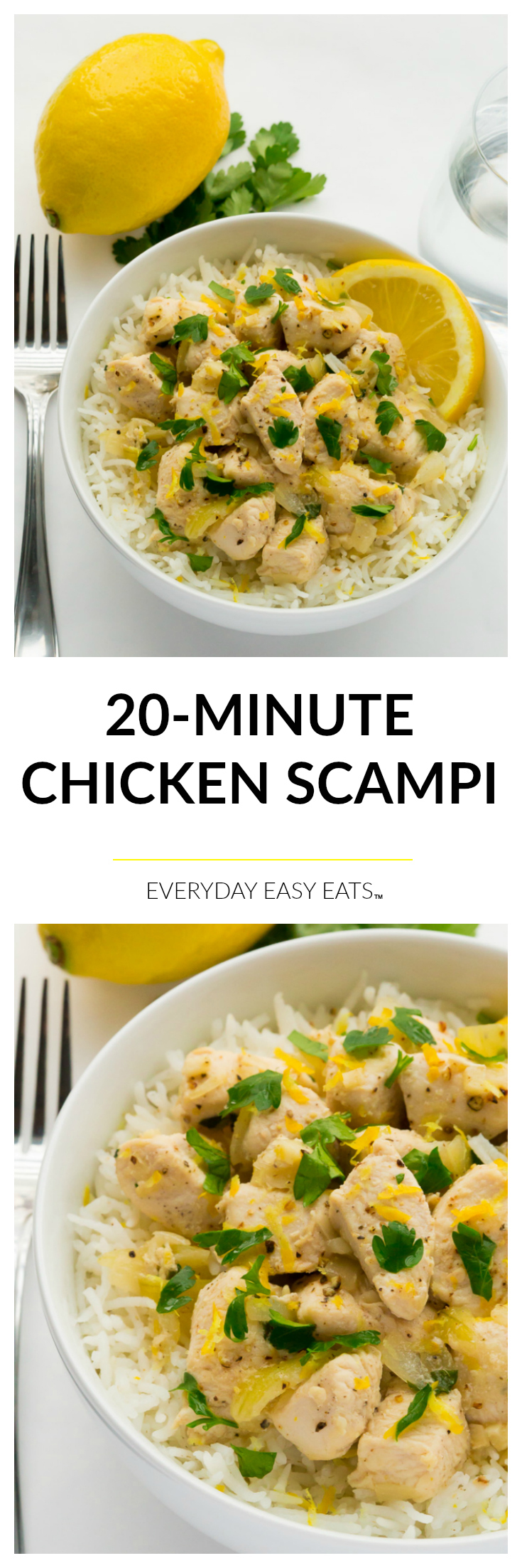 20-Minute Chicken Scampi - Perfect for busy weeknights! | Recipe at EverydayEasyEats.com