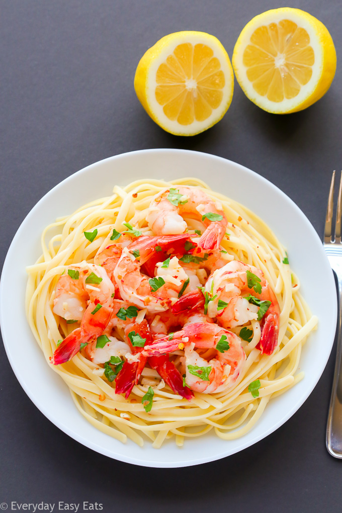 Shrimp Scampi - This 15-Minute recipe is elegant, impressive and so simple to make. | EverydayEasyEats.com