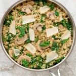 Mushroom Kale Quinoa | Recipe at EverydayEasyEats.com