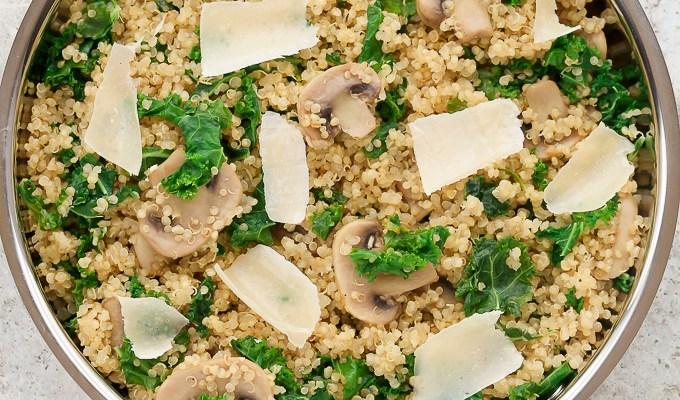Mushroom, Kale & Quinoa Skillet