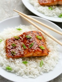 Asian Honey Sriracha Salmon