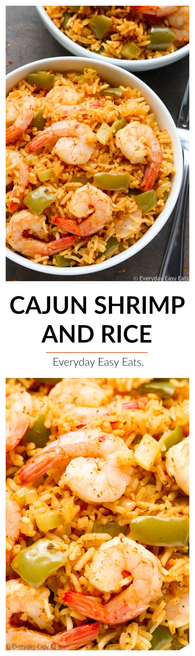 Easy One-Pot Cajun Shrimp and Rice | Recipe at EverydayEasyEats.com