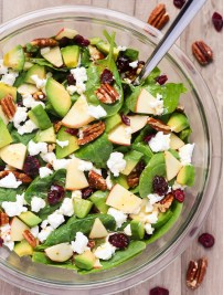 Apple Avocado Spinach Salad