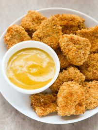 Baked Chicken Nuggets with Honey Mustard Sauce