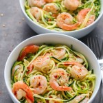 Garlic Butter Shrimp Zucchini Noodles Recipe | EverydayEasyEats.com