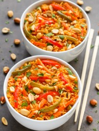 Thai Curried Vegetable Rice