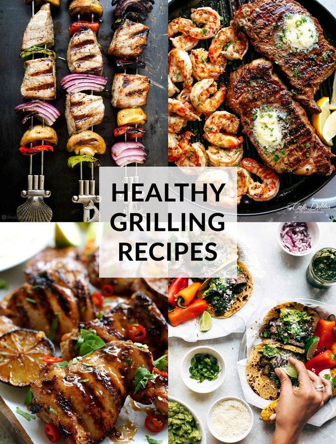 Healthy Grilling Recipes Collage
