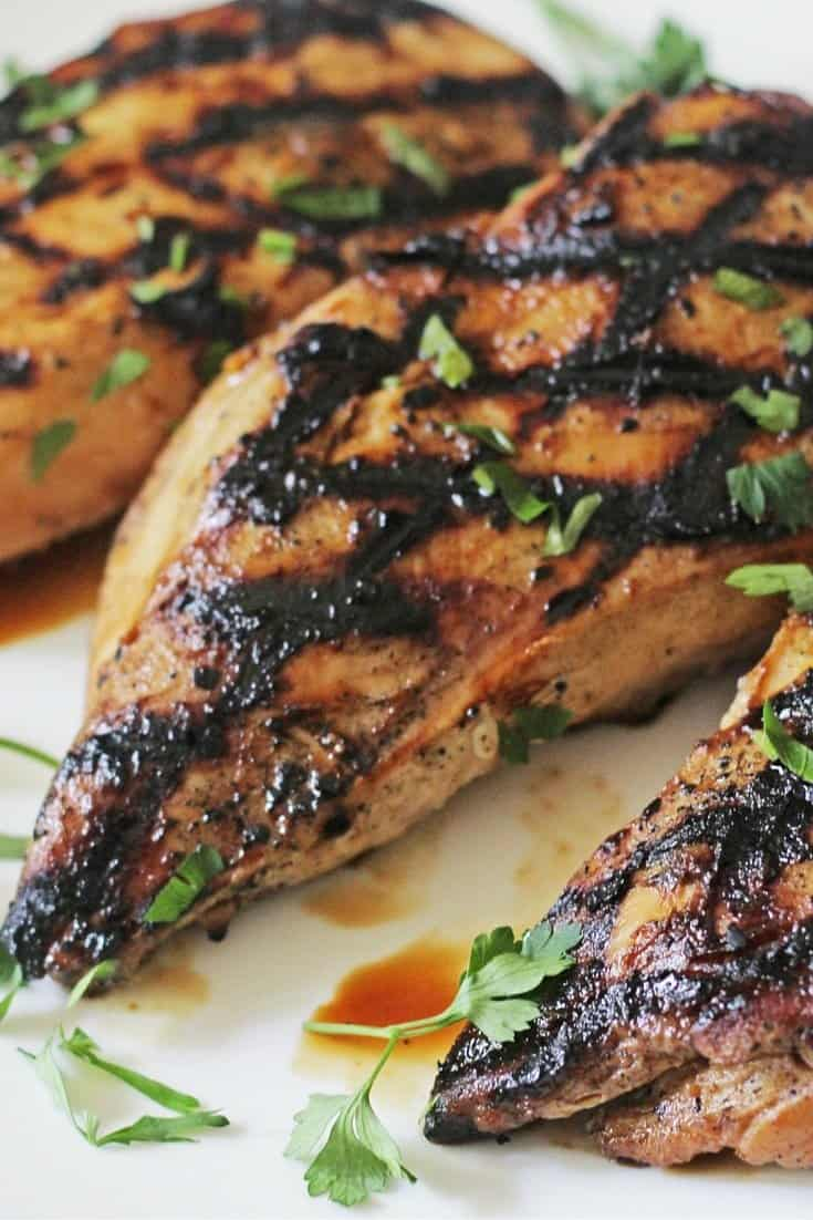 apricot glazed grilled chicken