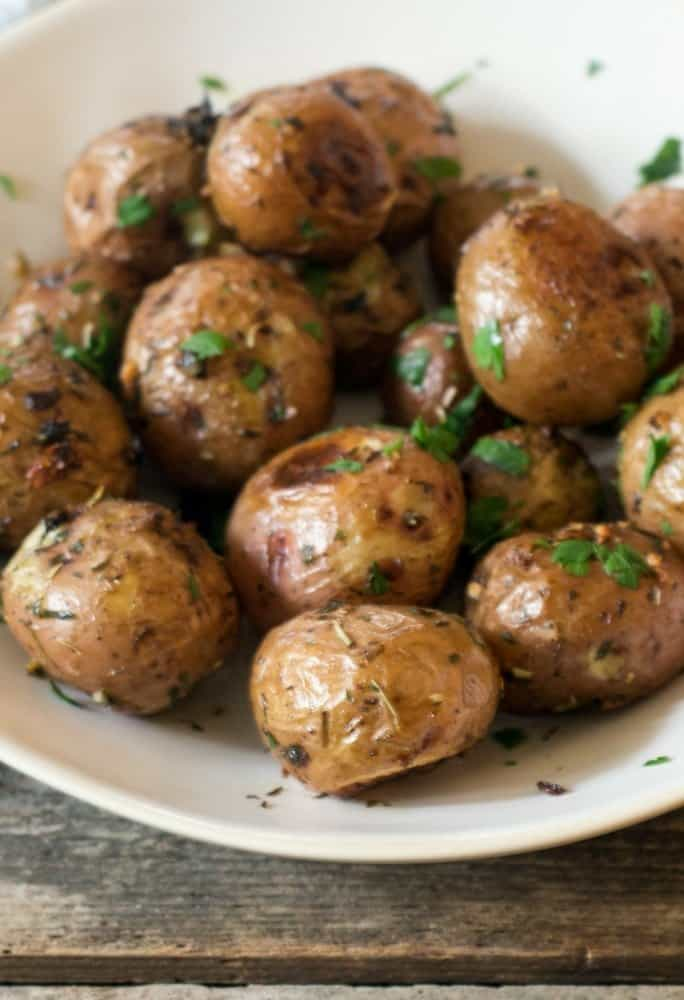 herb garlic roasted red potatoes